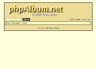 Webuzo for phpAlbum screenshot