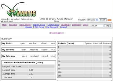 Mantis bugtracker