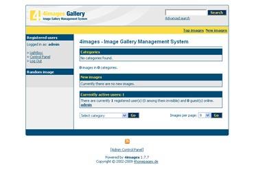 Webuzo for 4images full screenshot