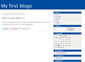 Webuzo for LifeType full screenshot