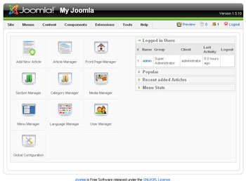Webuzo for Joomla 1.5