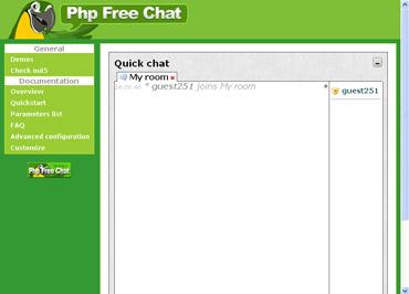 Webuzo for phpFreeChat