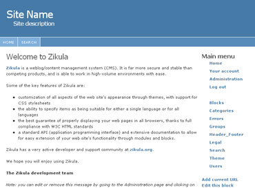 Webuzo for Zikula