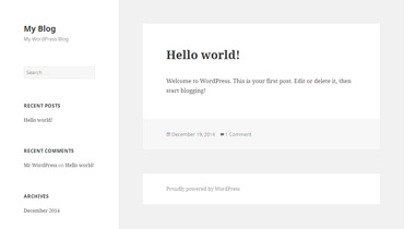 Webuzo for WordPress