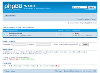 Webuzo for phpBB full screenshot