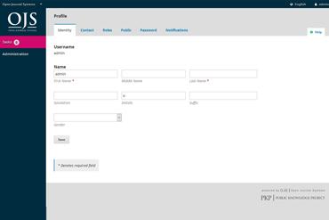 Webuzo for Open Journal Systems full screenshot