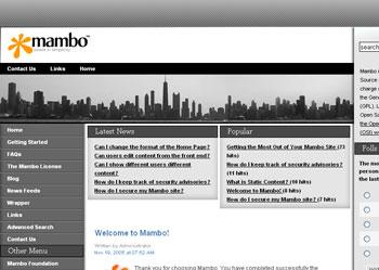 Webuzo for Mambo