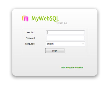 Manage your MySQL databases over the web using a secure and intuitive interface affordable Screen Shot