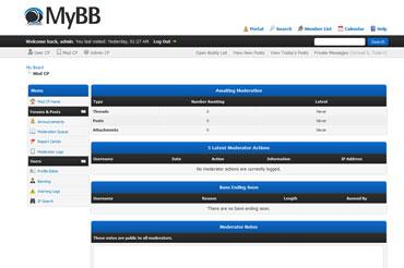 Webuzo for MyBB full screenshot