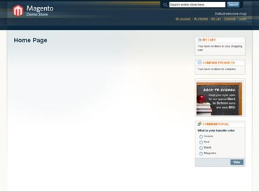 Webuzo for Magento full screenshot