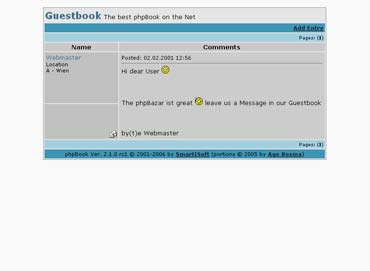 Allows you to add free guestbook to your site best Screen Shot