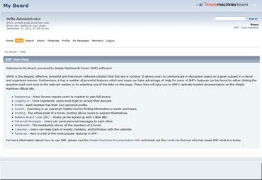 Webuzo for SMF full screenshot